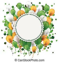 St Patricks Day Empty Emblem Balloons Cloverleafs