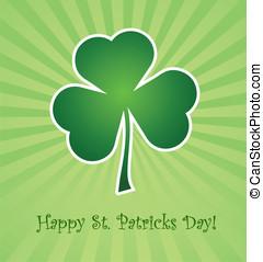 St. Patricks Day - Clover leaf element background for happy...