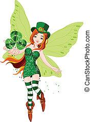 St. Patricks Day Fairy - Illustration of beautiful St. ...