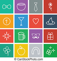 St. Patrick's Day Flat Icons