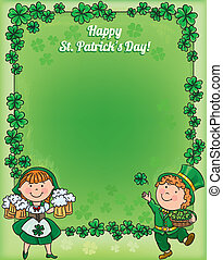 St. Patricks Day frame. Contains transparent objects. EPS10