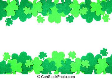 St Patricks Day frame - St Patricks Day double edge shamrock...