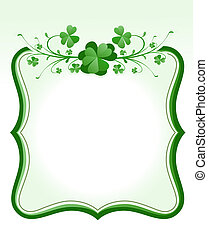 St. Patrick`s Day frame - vintage style St. Patrick`s Day...