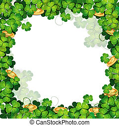 St. Patrick's Day frame with clover