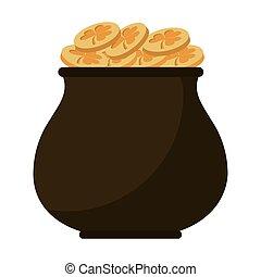 st patricks day gold cauldron treasure