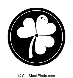 st patricks day gold coin clover pictogram