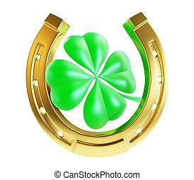 St. Patrick's day gold horseshoe