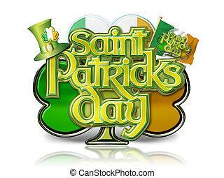St Patricks Day Graphic on Shamrock
