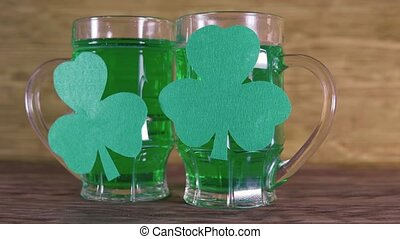St. Patrick's Day. Green Beer And Clover. - St. Patrick's...
