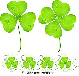 St. Patrick's Day green clover
