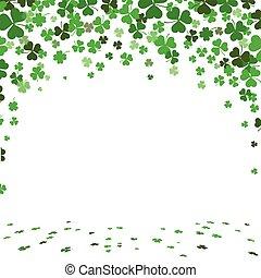 St. Patricks Day Green Shamrocks Cover