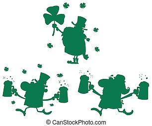St Patrick's Day Green Silhouettes