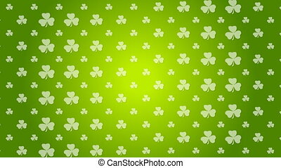 St. Patricks Day green video animation