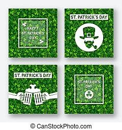 St. Patrick's day greeting card set