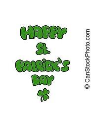 St. Patricks Day greeting. Saint Patricks Day typographical back