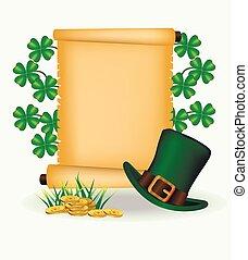 St. Patrick's Day greeting. Vector illustration.