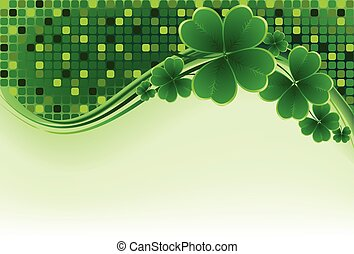 St. Patricks Day greeting. Vector illustration