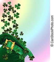 St Patricks Day hat - 3D Illustration for St Patricks Day...