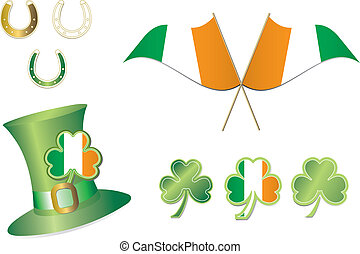St Patricks Day Hat and Flags