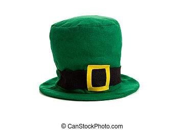 A St. Patricks day costume hat of a leprichaun