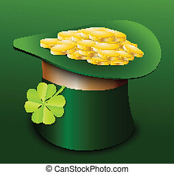 St. Patricks Day hat with clover