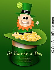 St. Patricks Day hat with leprechaun