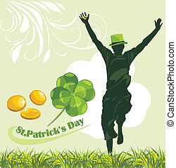 St. Patrick's Day. Holiday banner