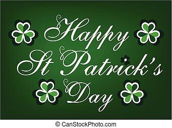 St patricks day holiday vector card