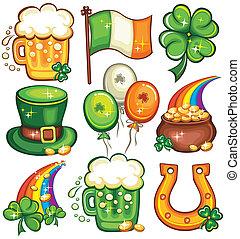 St. Patrick's Day icon set series