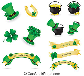 St. Patrick's day icons and banners