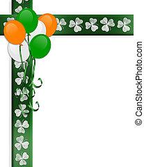 St Patricks Day Irish Border Balloons