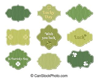 st patricks day labels - vector st patricks day vintage...