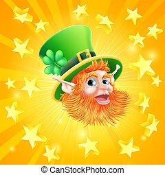 St Patricks day leprechaun backgrou