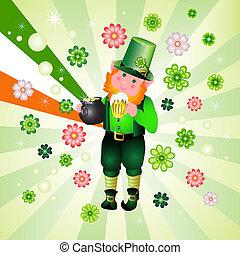 St. Patrick's Day leprechaun card
