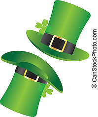 St Patricks Day Leprechaun Hat Illustration