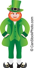 St Patricks Day Leprechaun Standing Illustration