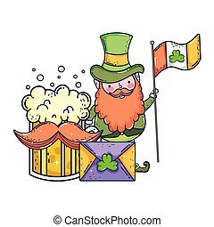st patricks day leprechaun with beer