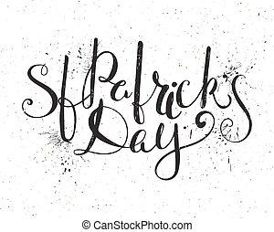 St. Patricks day lettering.