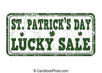 St. Patrick's Day lucky sale stamp
