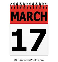 St. Patrick's Day on the calendar