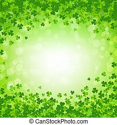 St. Patricks day Postcard With Gradient Mesh, Vector Illustration