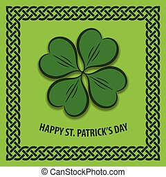 St. Patrick's Day poster, banner or greeting card