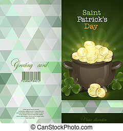 St. Patrick's Day. Pot Of Gold.