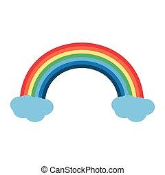 st patricks day rainbow cloud icon