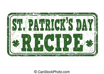 St. Patrick's Day recipe stamp