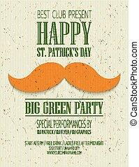 St. Patricks Day retro poster. Vector illustration