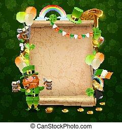 St Patricks Day Scroll Frame
