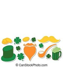 St. Patrick's Day set. Design