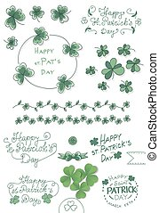 St. Patricks day set - Hand drawn collection of St. Patricks...