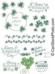 St. Patricks day set - Hand drawn collection of St. Patricks...